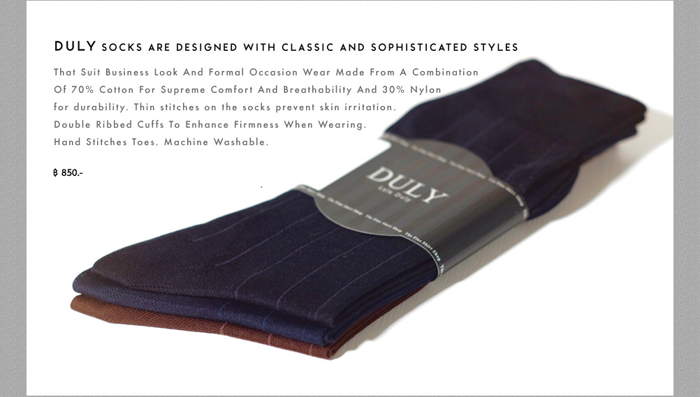 Duly socks are designed with classic and sophisticated styles