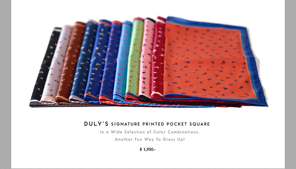 DULY'S signature printed pocket square